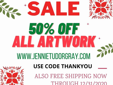 50% Off Sale on Everything + Free Shipping through 12/31/2020!