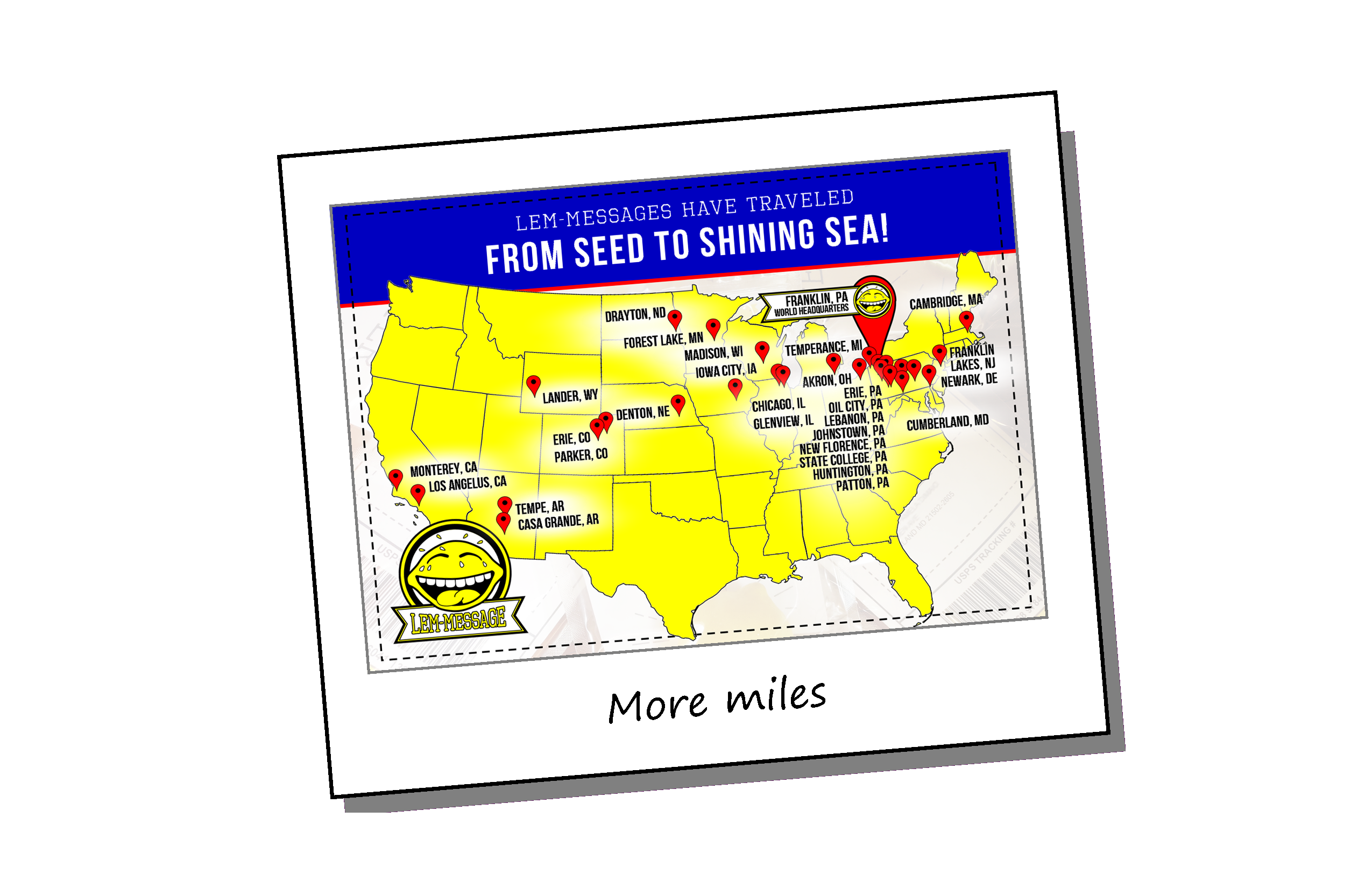 We've traveled thousands of miles!