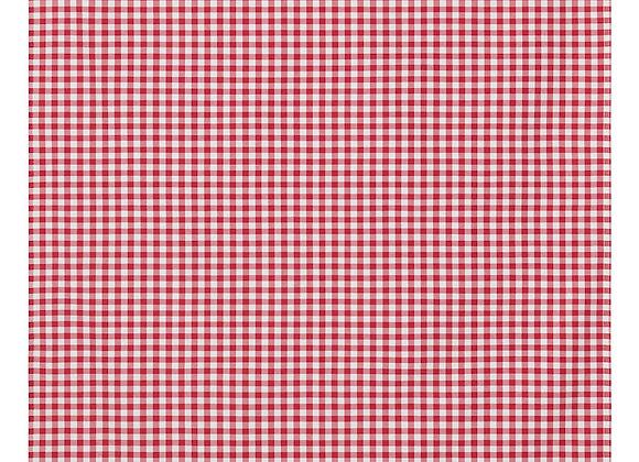 Nappe à carreaux rouge et blanche