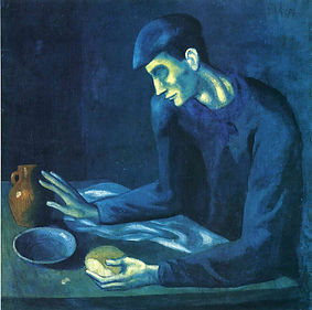 1903 Breakfast of a Blind Man 95x94cm Me