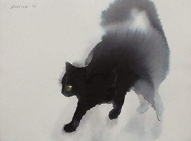 watercolor-black-cats-ink-paitings-endre