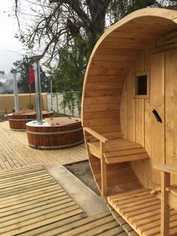 Entrada de sauna