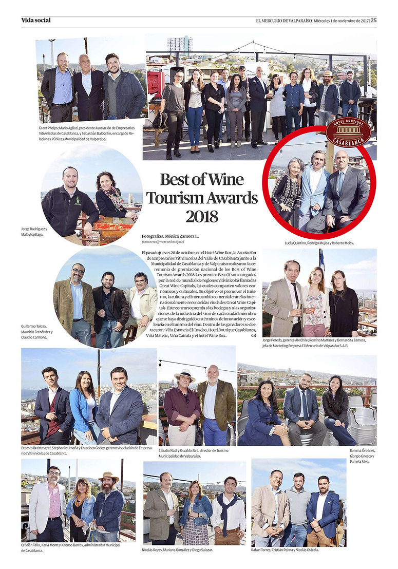 Best Of Wine Tourism Awards Chile