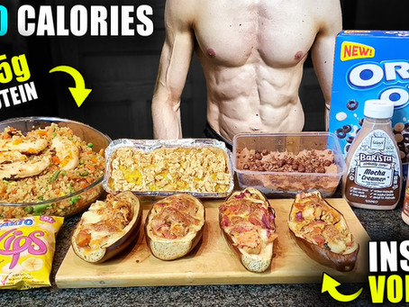 1900 calorie high volume & high protein meal prep for fat loss on a student budget