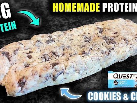 homemade cookie & cream quest bar
