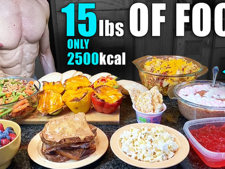 2500 Calorie Full Day of eating to lose fat and build muscle at the same time