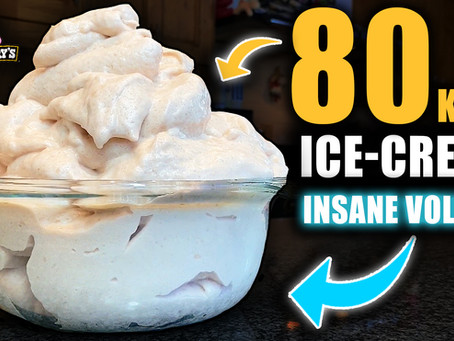 the best protein ice cream recipe (insane volume)