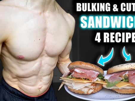 High protein sandwiches (4 recipes)
