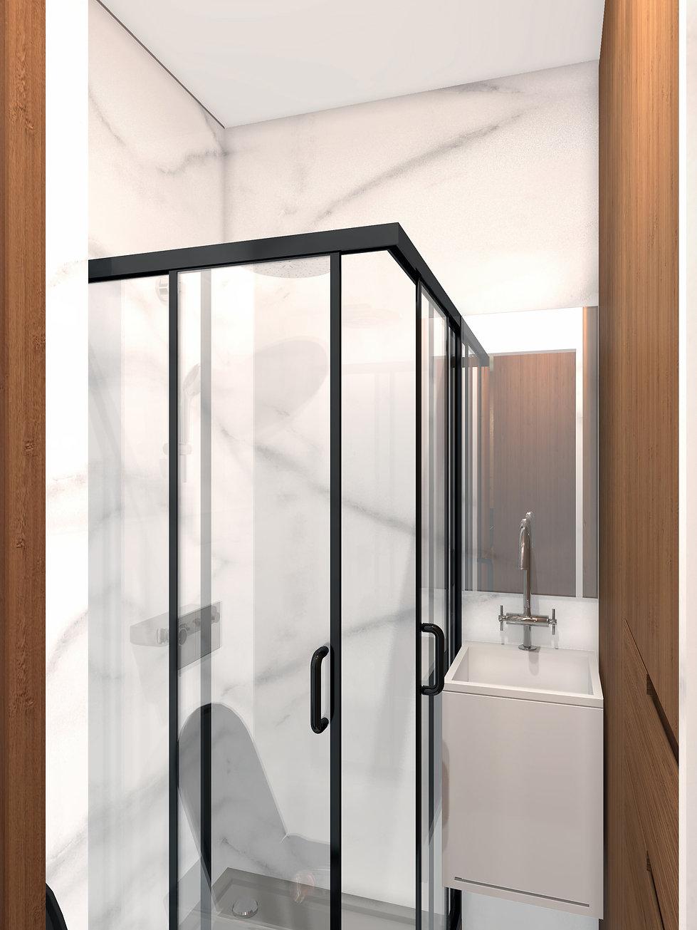 Salle de douche mini