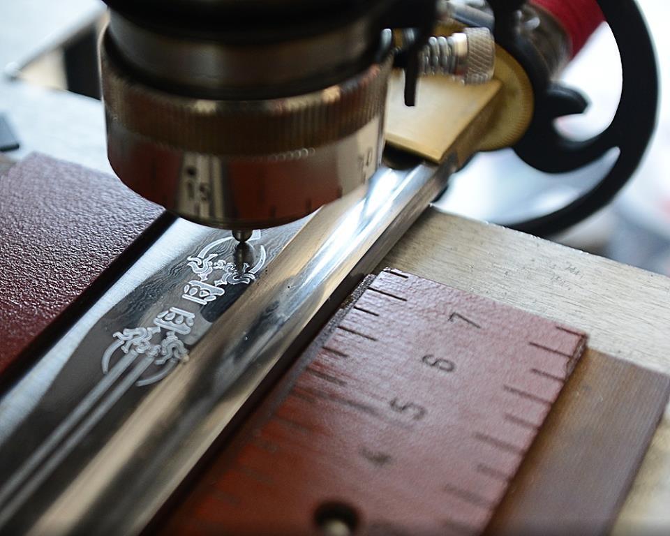 Gravure mécanique au diamant