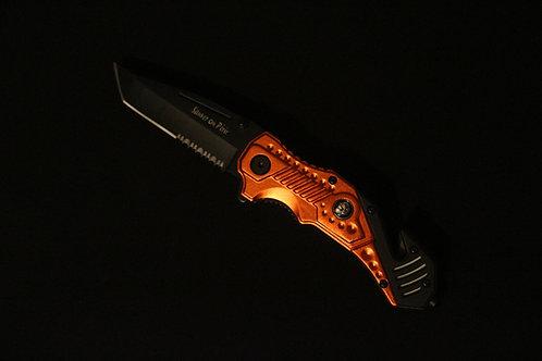 Couteau de survie Sapeurs-Pompiers personnalisable. Gravure simple offerte
