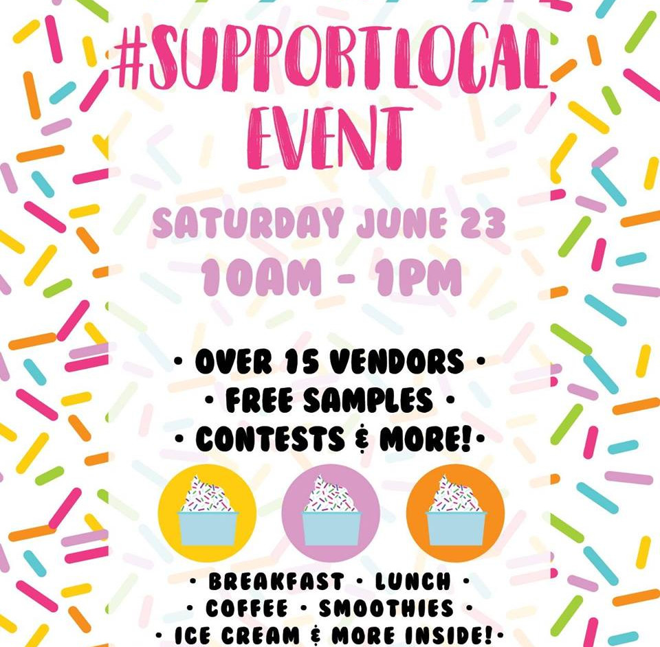 June's #supportlocal Event Poster