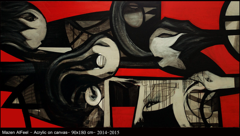 Acrylic on canvas- 90x180 cm.  2015 Price : 1100 ERU