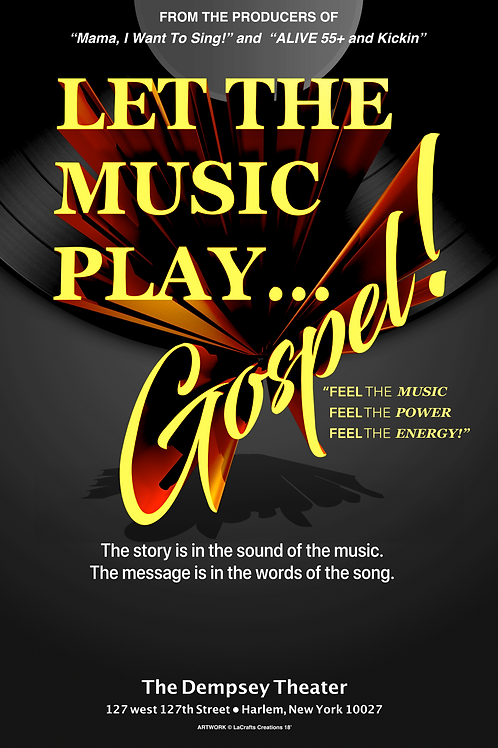 Let The Music Play...Gospel! - Revival Off-Broadway Show Poster