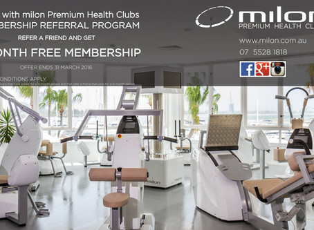 1 MONTH FREE MEMBERSHIP TO YOUR NEWEST AND MOST ELITE GOLD COAST GYM - milon PREMIUM HEALTH CLUBS!