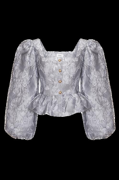 Silver grey top