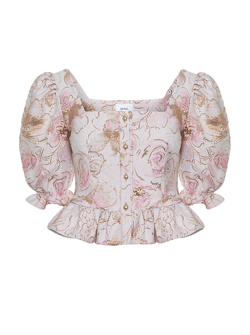 Pink orchid top