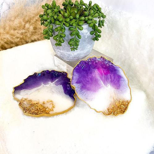 Violet Vibe Coasters