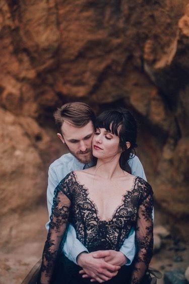 Via instagram Black Lace Wedding Gown