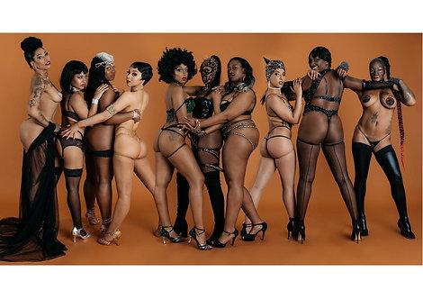 A4 Poster The Black Burlesque Shoot