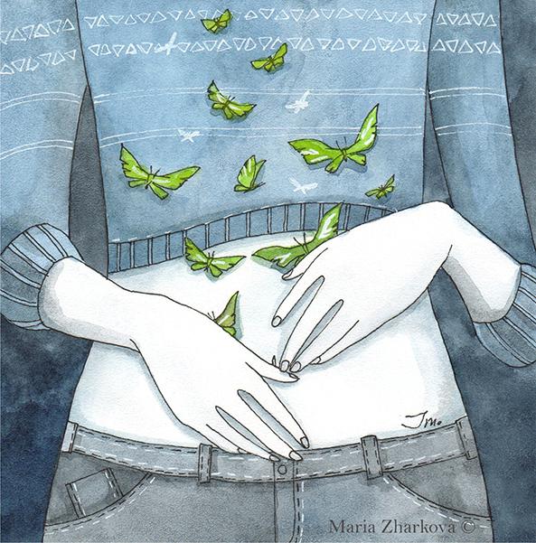 Бабочки в моём животе...