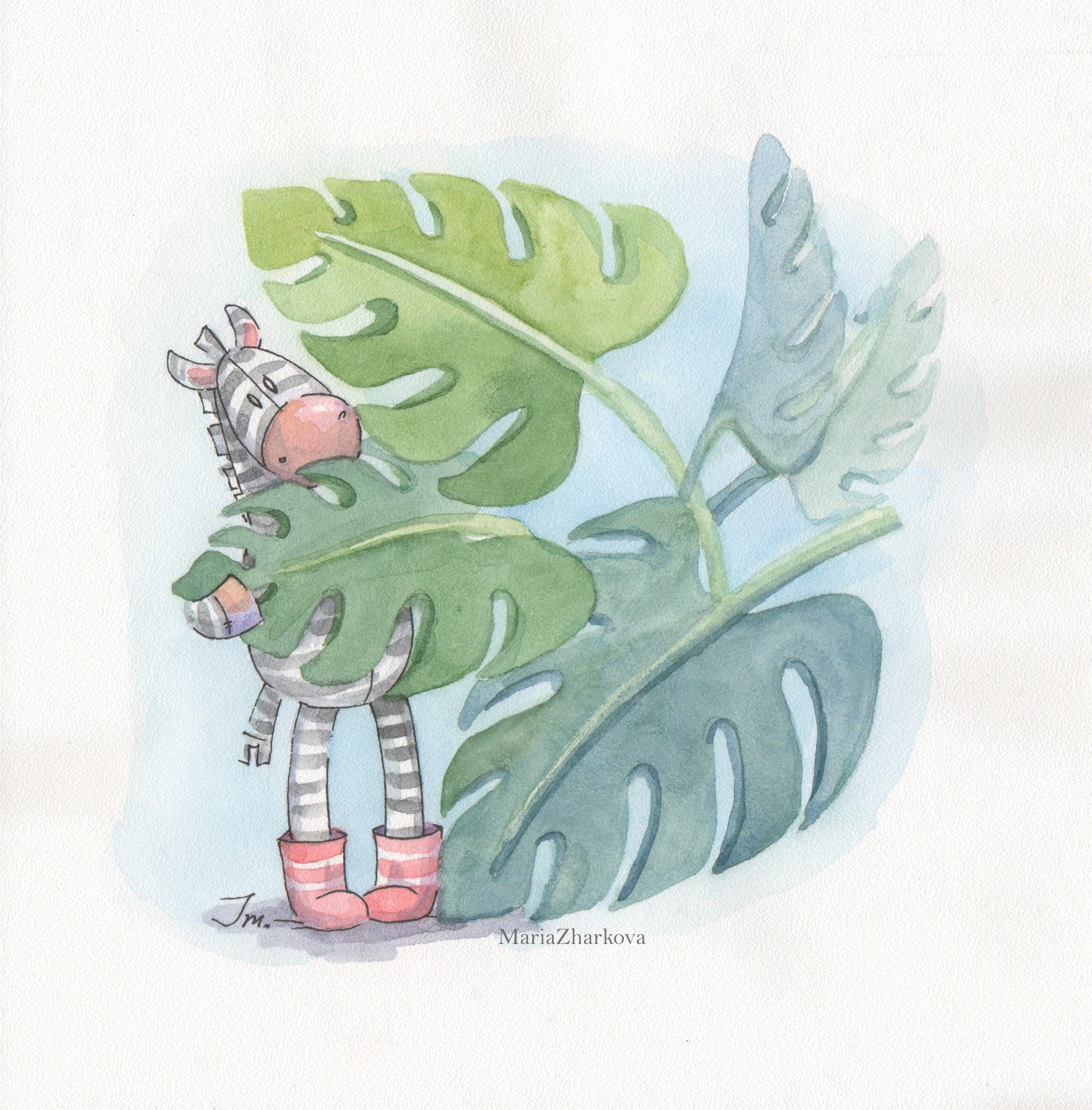 В листьях