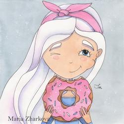 Любительница сладкого