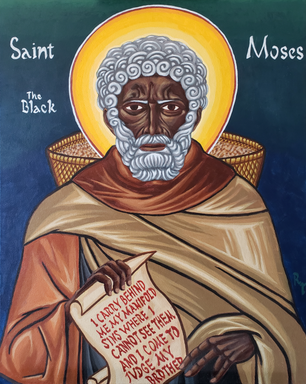 Icon of St Moses the Black