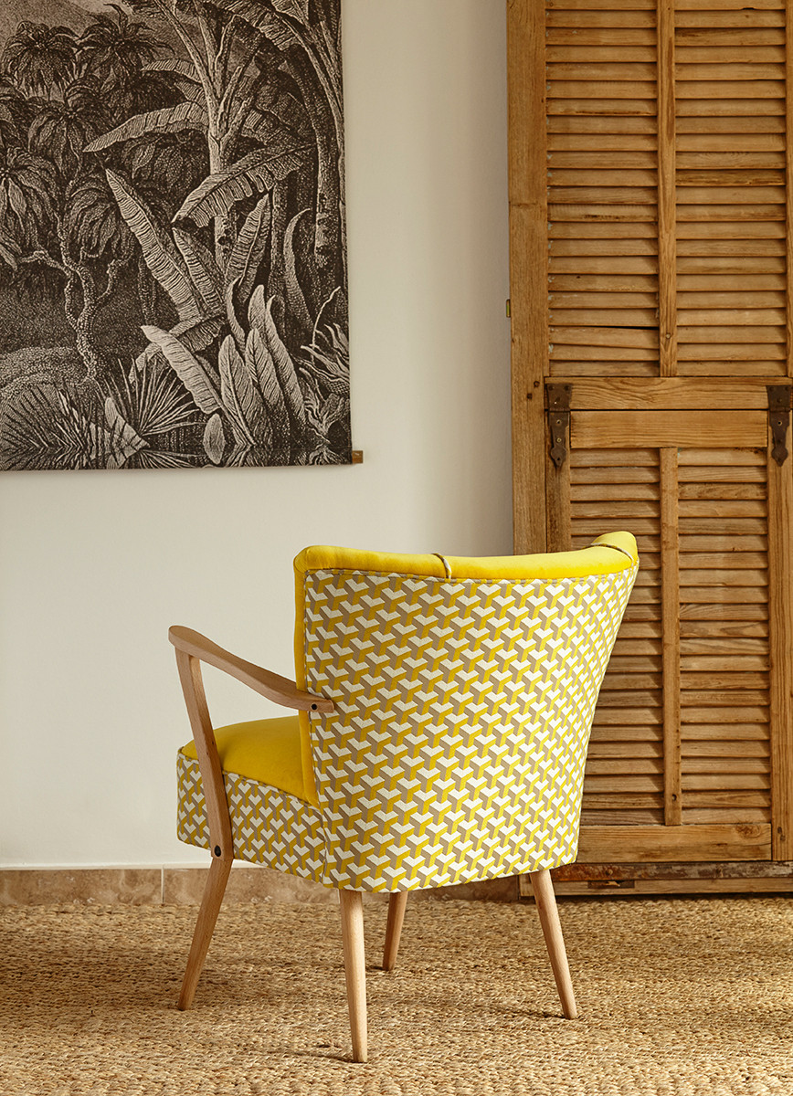 fauteuil atelier compas - tapissier gard hérault nîmes uzès