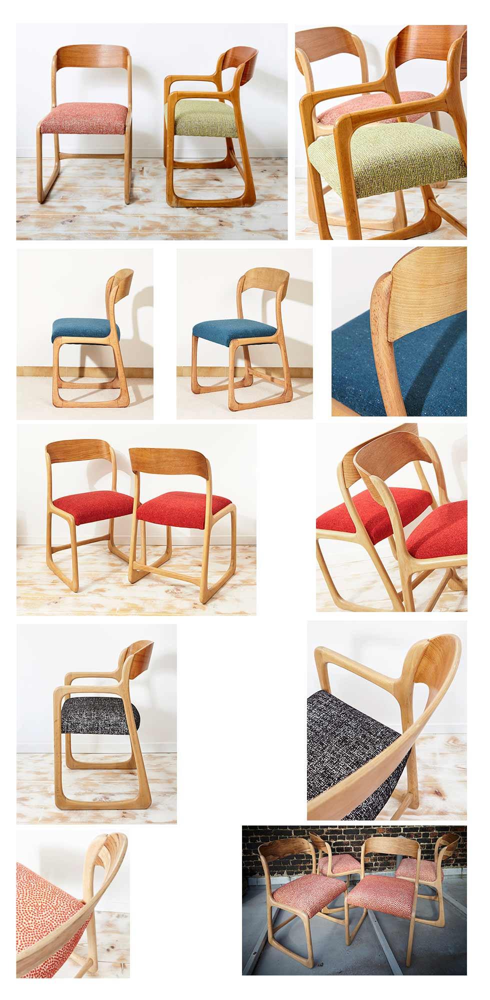 Réfections fauteuils et chaises Baumann Atelier Compas Tapissier Gard Hérault