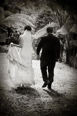 Haley-&-Dao-Wedding-walk-into-the-light-b-&-w
