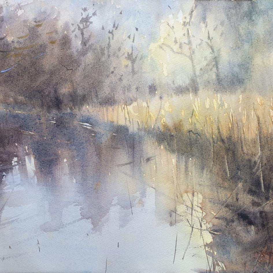 Landscape-122020 Original Watercolor Painting