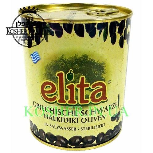 Оливки кошерные черные в рассоле, Elita, 820г