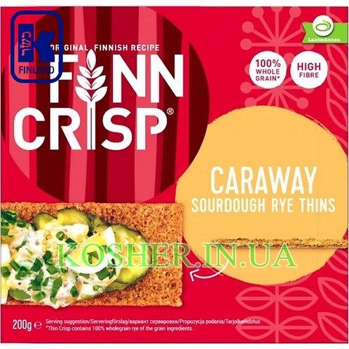 Хлебцы кошерные Ржаные с Тмином Caraway, Finn Crisp,200г/ פת פריכה שיפון עם כמון