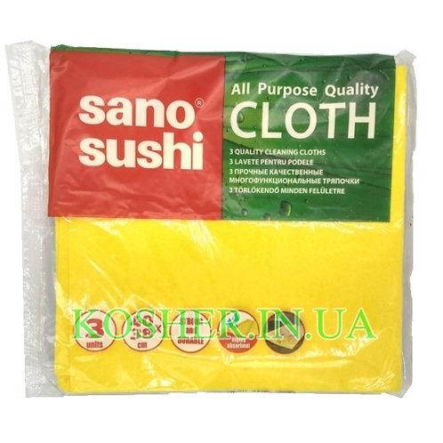 Тряпка многофункциональная для мытья поверхностей, Sano Sushi, 3 шт