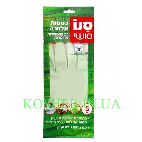 Резиновые перчатки многоразовые с экстрактом Алое, Sano Sushi, размер S