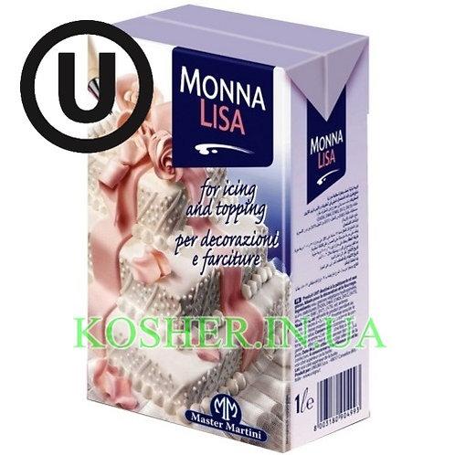 Сливки растительные кошерные ПАРВЕ 28%, Monna Lisa, 1л