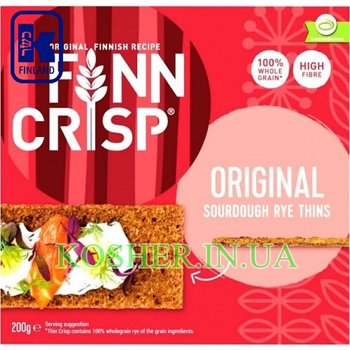 Хлебцы кошерные Ржаные Original, Finn Crisp, 200г / פת פריכה שיפון