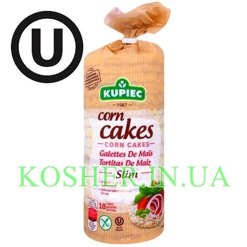 Крекисы кошерные Кукурузные тонкие, Kupiec, 84г / פריכיות תירס