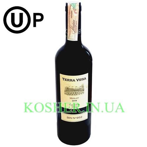 Вино Мерло красное сухое кошерное на Песах, Terra Vega, 0.75л