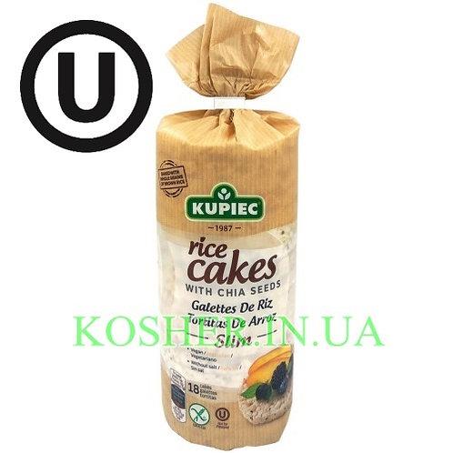 Крекисы кошерные Рисовые с семенами ЧИА, Kupiec, 90г / פריכיות אורז