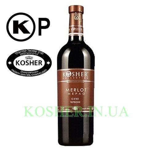 Вино кошерное Мерло кр. сух., KOSHER, 0.75л