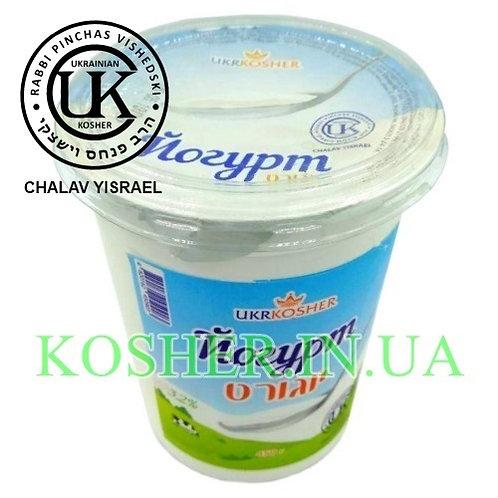 Йогурт кошерный термостатный б/аром. 3,2%, УК, 450г / יוגורט
