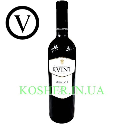 Вино кошерное Мерло красное сухое, KVINT, 0.75л