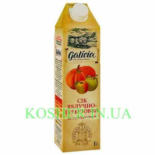 Сок кошерный Яблочно-тыквенный 100%, Galicia, тетрапак 1л