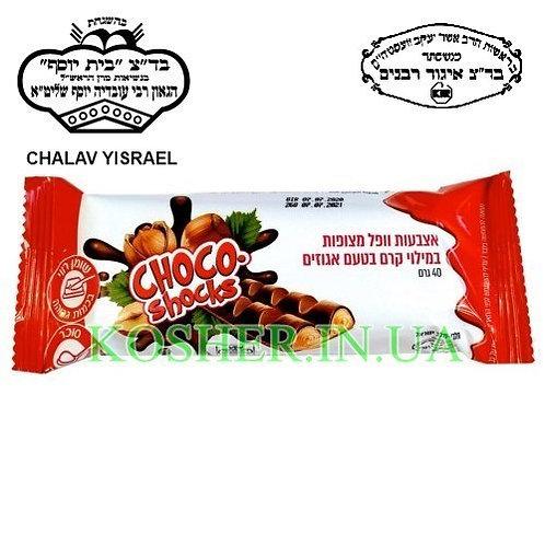 Вафли кошерные Choco-shocks молочные в шоколаде, Polus, 40г