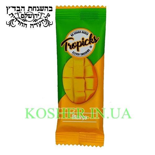 Батончик фруктовый кошерный Манго, Tropicks, 20г