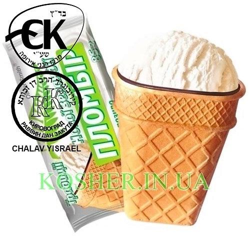 Мороженое кошер Пломбир Новой Зеландии, Laska, 85г / גלידת פלומביר בגביע