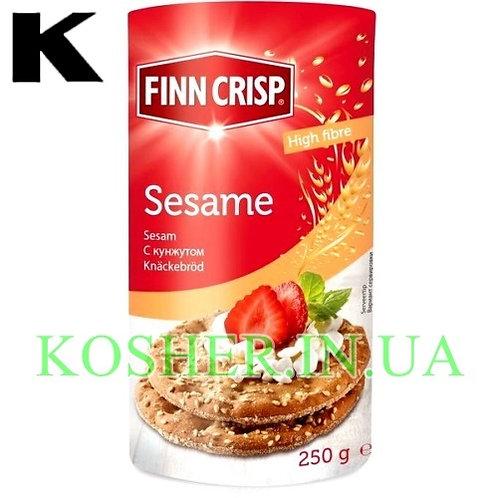 Хлебцы кошерные Ржаные с Кунжутом, Finn Crisp, 250г / פת פריכה שיפון עם שומשום