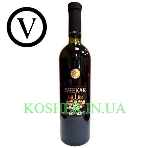 Вино кошерное SHEKAR красное сухое, KVINT, 0.75л